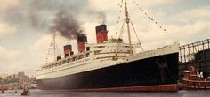 Long Beach, CA - The Queen Mary.  Once the grandest ocean liner in the world, the Queen Mary is now a full-service Long Beach hotel, historical landmark, and entertainment venue.  It is said to be haunted.