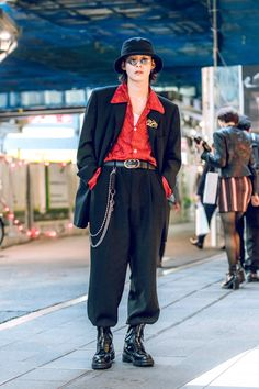 The Best Street Style From Seoul Fashion Week Spring 2019 Tokyo Fashion, Japan Street Fashion, Tokyo Street Style, Looks Street Style, Seoul Fashion, Harajuku Fashion, Looks Style, Street Chic, Men Street
