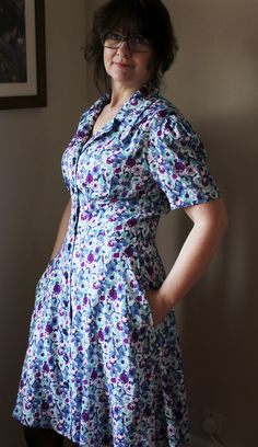 That fabulous Butterick 5846 - even prettier in real life!