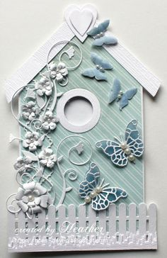 Heather's Haven: Simon Says.....................Thing with Wings !!! Beautiful bird house card