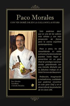 Vin Doré 24K en la Gala SOUL & STARS contra el hambre infantil, junto a seis Estrellas Michelín - Paco Morales Chef
