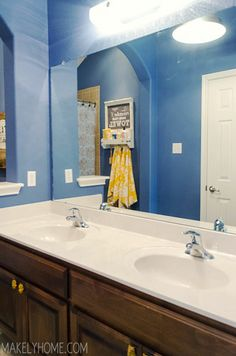 Bathroom Mirror Makeover bathroom mirror makeover before and after - ask anna | best of