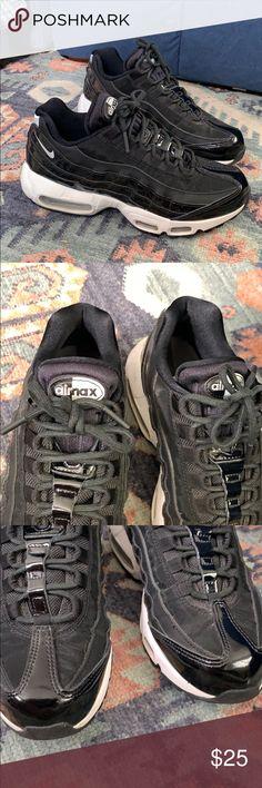 Details about Nike 807443 100 Air Max 95 Premium PRM Safari White Black Cool Grey Shoe SZ 5.5