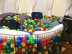 This is like my dream room right there - Pillows & Ball Pit = yes please!