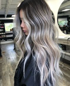 Blonde Asian Hair, Ashy Hair, Blonde Hair Looks, Blonde On Dark Hair, Asians With Blonde Hair, Real Hair Wigs, Dark Hair With Highlights, Rides Front, Balayage Hair
