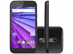"""Smartphone Motorola Moto G 3ª Geração 16GB Dual - Chip 4G Câm. 13MP + Selfie 5MP Tela 5"""" Desbl. Tim"""