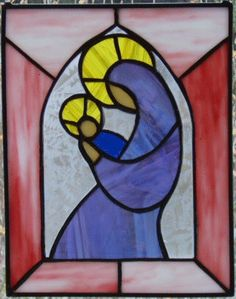 Madonna and Child  Stained Glass Panel by crystalcave on Etsy, $60.00
