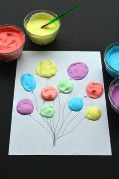 on peut faire des ballons avec de la peinture mousse