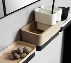 Row bathroom wall shelf by ex.t design oustudio . bathroom в Modern Bathroom Design, Bath Design, Bathroom Interior Design, Design Design, Design Ideas, Wall Mirror With Shelf, Bathroom Wall Shelves, Steam Showers Bathroom, Small Bathroom