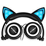 Foldable Wired Over Ear Kids Headphone with Glowing Light LED for Children Cosplay Fans,Cat Ear Headphones Best Friend Gifts, Gifts For Friends, Best Gifts, Cat Headphones, Wireless Headphones, Thing 1, Unique Cats, Light Up, Audio