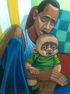 """From Cbabi Bayoc's collection, """"365 Days with Dad""""."""