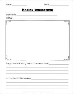 Making Connections to Stories One of the strategies I teach my students when we are doing CAFE is to make connections to the story. This strategy can be used at ANY grade level!!!Here is a graphic organizer that will help your student make connections to any story that you/they read. Cheers 1st grade 2nd grade 3rd grade 4th grade 5th grade CAFE connections ELA reading Terri's Teaching Treasures