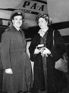 The Prince de Ligne with his wife (sister of Grand Duke Jean of Luxembourg) pictured, November 16, 1952.