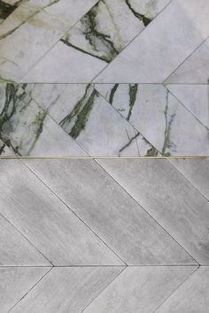 Risultati immagini per concrete tiles parquet hungarian Floor Patterns, Tile Patterns, Mixing Patterns, Planchers En Chevrons, Br House, Interior And Exterior, Interior Design, Bespoke Kitchens, Floor Finishes