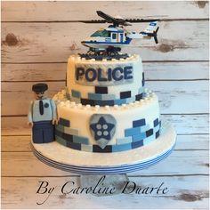 Excellent Image of Lego Police Birthday Cake . Lego Police Birthday Cake Lego Police Cake Cakes And Treats Caroline Duarte Police Police Birthday Cakes, Police Car Cakes, Lego City Birthday, Themed Birthday Cakes, Happy Birthday Cakes, Themed Cakes, 5th Birthday, Lego City Cakes, Cake Lego