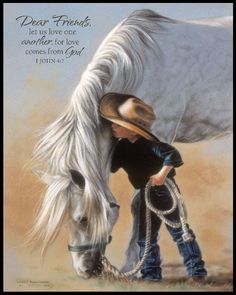 """""""Dear friends, let us love one another, for love comes from God."""" - I John 4:7 (artwork by P. Graham Dunn)"""