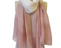 Handmade and Naturally Dyed Blush Dip-Dye Scarf
