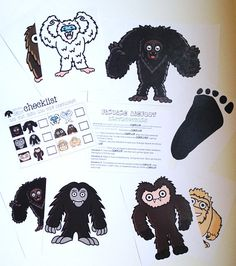 Finding Bigfoot Game BIGFOOT Sasquatch Kids game party