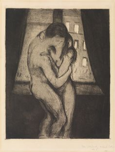 Edvard Munch The Kiss 1895 painting, oil on canvas & frame; Edvard Munch The Kiss 1895 is shipped worldwide, 60 days money back guarantee.