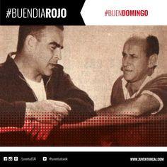 #BuenDiaRojo! #BuenDomingo! 😈 El profesor González Garcia y Giúdice conversan en la concentración de #Independiente.