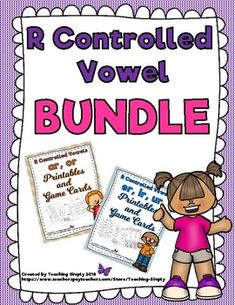 Plenty of practice is provided for the r controlled vowels with this bundle! Anchor charts, printable worksheets including cut and paste, spelling the word, and completing fill in the blank sentences, and a set of word and picture game cards. You may also purchase these products separately. #RControlledVowels #BossyR