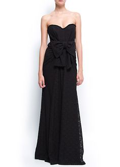 MANGO - CLOTHING - Dresses - Bow lace gown <3!