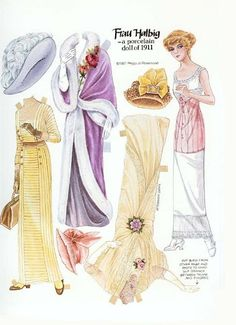 Frau Halbig paper doll of porcelain doll 1911