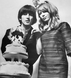 George Harrison and Patti Boyd...The Beatle & The British Model...Wedding #1...No Children...Enter Eric Clapton, Harrison's Best Friend...Need I Say More?