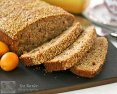 Spiced Kumquat Bread with Gold Shimmer - how pretty this would be on a tea service tray!  :)