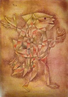 'Little Jester in a Trance' by Paul Klee.  Art Experience NYC  www.artexperiencenyc.com/social_login/?utm_source=pinterest_medium=pins_content=pinterest_pins_campaign=pinterest_initial