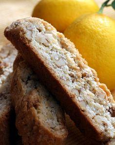 Meyer Lemon Walnut Biscotti