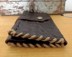 Leather Wallet, Men's Leather Wallet, Men's Wallet, Coin Pouch, Ostrich style Leather, Credit Card Wallet, Handmade Leather man's wallet. by VakalisCreations on Etsy https://www.etsy.com/listing/254120785/leather-wallet-mens-leather-wallet-mens