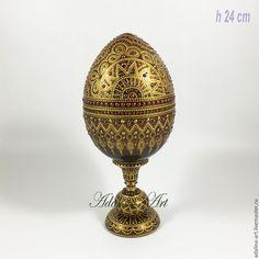 Купить ДАРИЙ. ПАСХАЛЬНЫЙ СУВЕНИР. Яйцо. Точечная роспись - комбинированный, золотой, узоры, яйцо