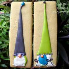 Gnome Cookies with very tall hats - The Cookie Architect