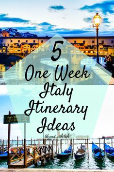 5 one week italy itinerary Ideas - The first part in planning a trip is deciding where to go and how many days to stay in each location. For many of us this is one of the most overwhelming elements in travel planning as the options are limitless. Italy Vacation Packages, 10 Days In Italy, Things To Do In Italy, Greece Itinerary, Itinerary Planner, Italy Honeymoon, Best Of Italy, Italy Travel Tips, Honeymoon Destinations