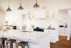 Kitchen Dining, Dining Room, Design Ideas, Design Styles, Coastal Style, Door Design, Satin Finish, Kitchen Interior, Cool Kitchens