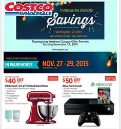 Costco's full Black Friday 2015 ad leaked: Everything you need to know