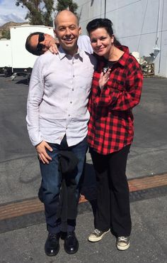 """""""Yay! Jon Cryer back on NCIS set! He's so invested he grew his own Michael Weatherly head on his shoulder."""""""