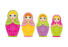 Matryoshka Russian Dolls Set