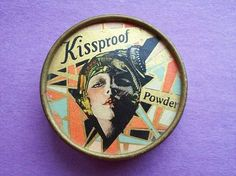 Ultra Art Deco Kissproof Powder Box