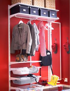 algot wall mounted storage solution in the hallway algot white wall mounted storage solution