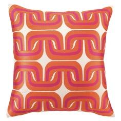 Trina Turk Pillow Embroidered Linen Geo Link Pink/Orange. @Layla Grayce #laylagrayce #pillows