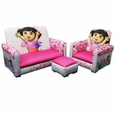 Nickelodeon Dora 3 Piece 3 Piece Juvenile Set - Baby - Toddler Furniture - All Toddler Furniture