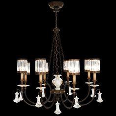 Niermann Weeks,Lido Large Chandelier in Antique Mirror and Hand ...:Eight Light Chandelier,Lighting