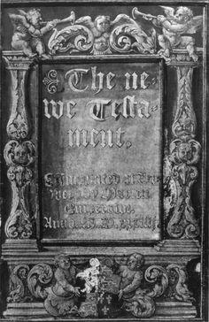 Anne Boleyn's copy of the New Testament in English (Antwerp, 1534).