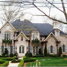 Not sure how I feel about this- I love the coloring, but for some reason it looks a little McMansion to me...