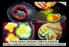 Egg fried inside a paprika