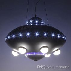 UFO aircraft chandelier boy child children's room lamps bedroom lamps creative cartoon kids room lighting