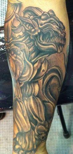 gargoyle tattoo on pinterest gothic gargoyles reaper tattoo and grim reaper tattoo. Black Bedroom Furniture Sets. Home Design Ideas