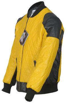 men's leather jacket in black / yellow 2065 / Herren Lederjacke in schwarz / gelb 2065 Men's Leather Jacket, Leather Men, Black N Yellow, Biker, Bomber Jacket, Jackets, Fashion, Yellow, Down Jackets